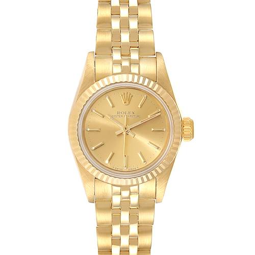 Photo of Rolex President No-Date 14K Yellow Gold Ladies Watch 67198