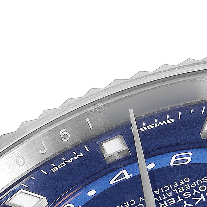 Rolex Sky-Dweller Blue Dial Steel White Gold Mens Watch 326934 Box Card Unworn SwissWatchExpo