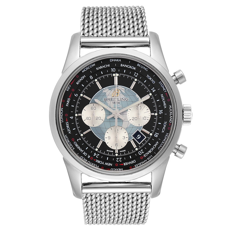 Breitling Transocean Chronograph Unitime Mens Watch AB0510 Box Papers SwissWatchExpo