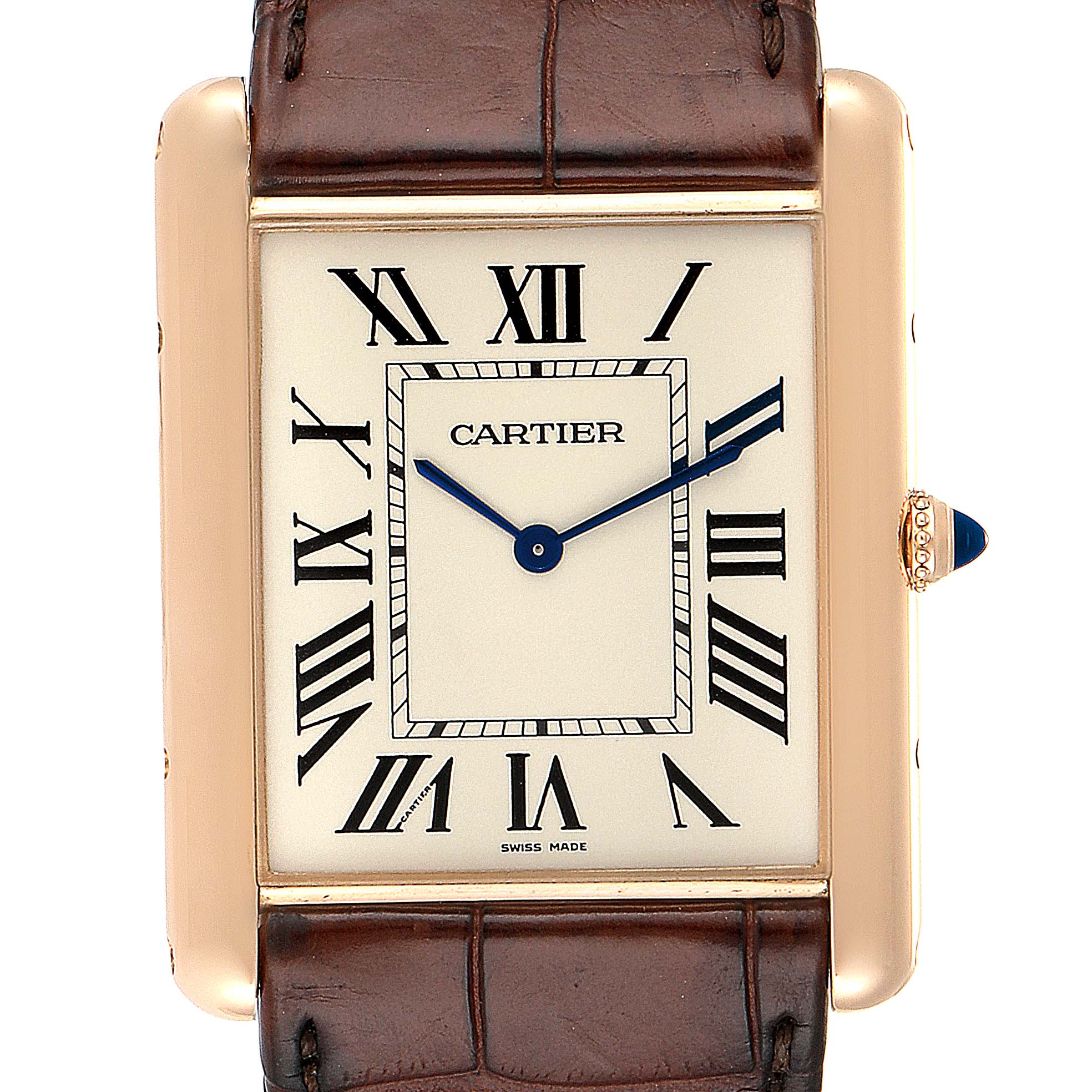 Cartier Tank Louis XL 18k Rose Gold Manual Winding Watch W1560017 SwissWatchExpo