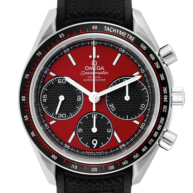 Omega Speedmaster Racing Red Chronograph Mens Watch 326.32.40.50.11.001 SwissWatchExpo