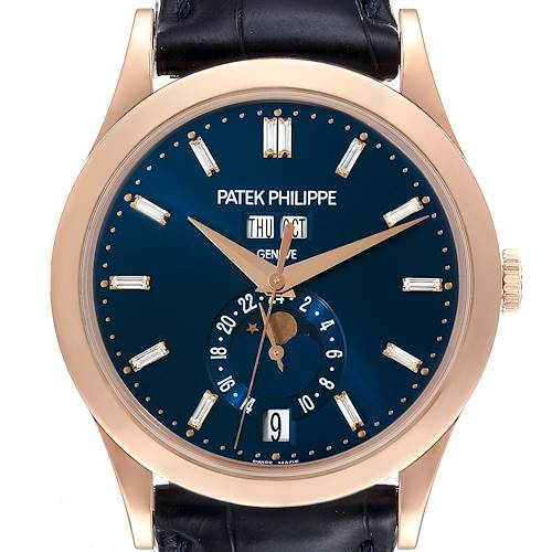 Photo of Patek Philippe Complications Annual Calendar Rose Gold Diamond Watch 5396