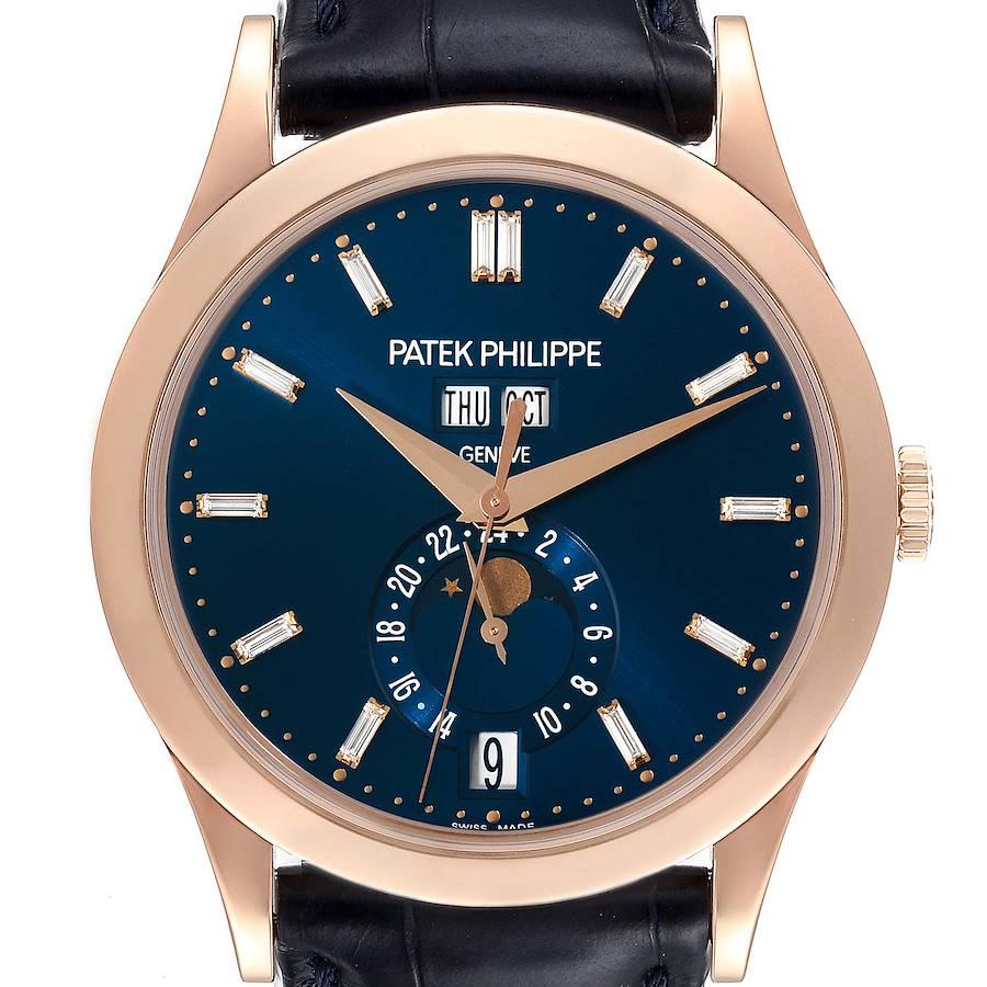 Patek Philippe Complications Annual Calendar Rose Gold Diamond Watch 5396 SwissWatchExpo