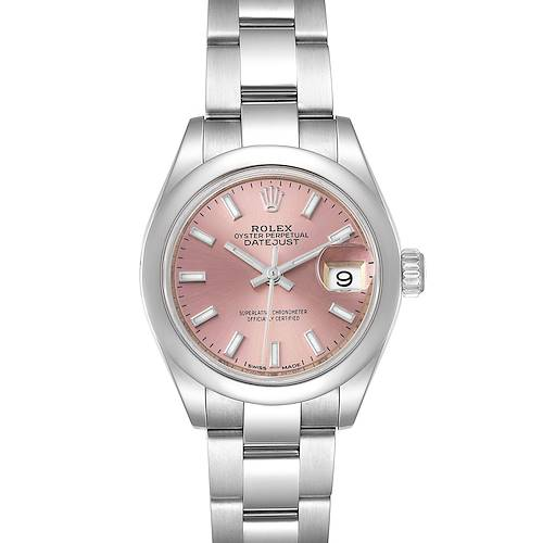 Photo of Rolex Datejust 28 Pink Dial Oyster Bracelet Steel Ladies Watch 279160 Box Card