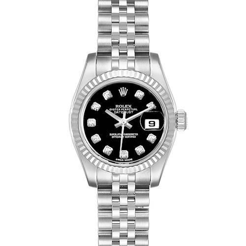 Photo of Rolex Datejust Steel White Gold Diamond Ladies Watch 179174 Box