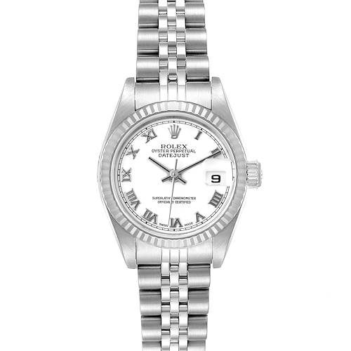 Photo of Rolex Datejust Steel White Gold White White Dial Ladies Watch 79174 Papers