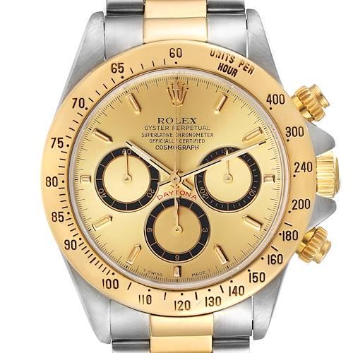 Photo of Rolex Daytona Steel Yellow Gold Inverted 6 Chronograph Mens Watch 16523
