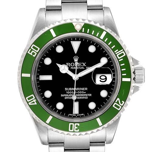 Photo of Rolex Submariner 50th Anniversary Green Kermit Mens Watch 16610LV