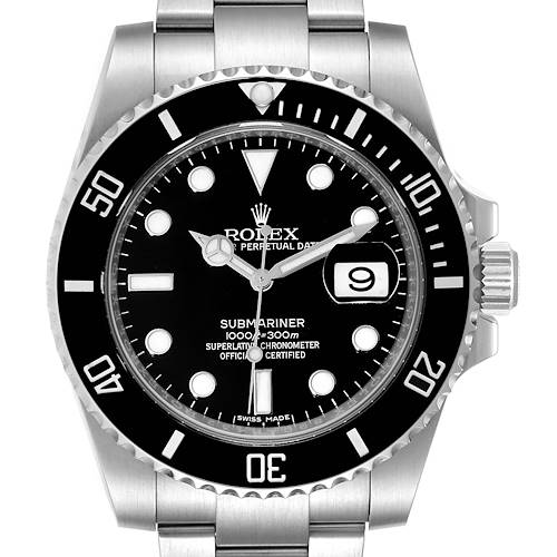 Photo of Rolex Submariner Black Dial Ceramic Bezel Steel Mens Watch 116610