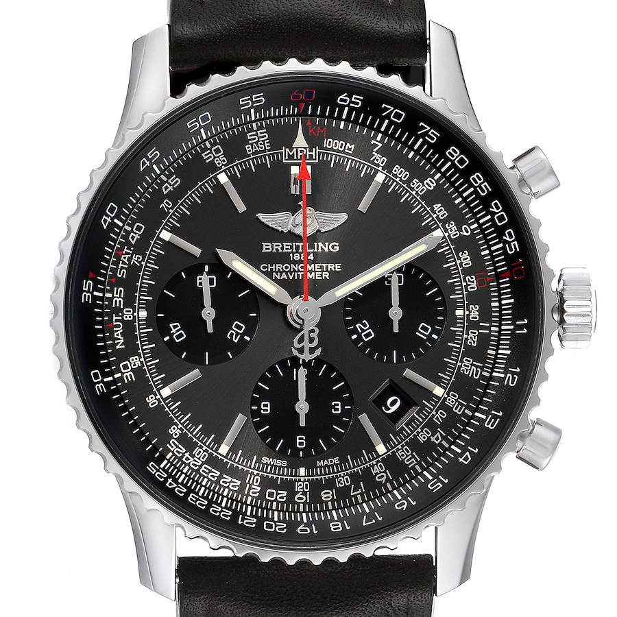 Breitling Navitimer 01 Grey Dial Limited Edition Mens Watch AB0121 Box Papers SwissWatchExpo