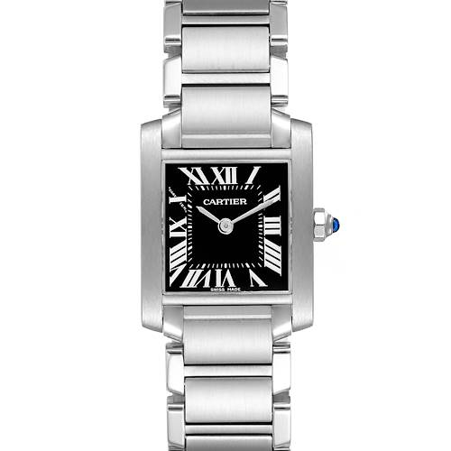 Photo of Cartier Tank Francaise Black Dial Steel Ladies Watch W51026Q3