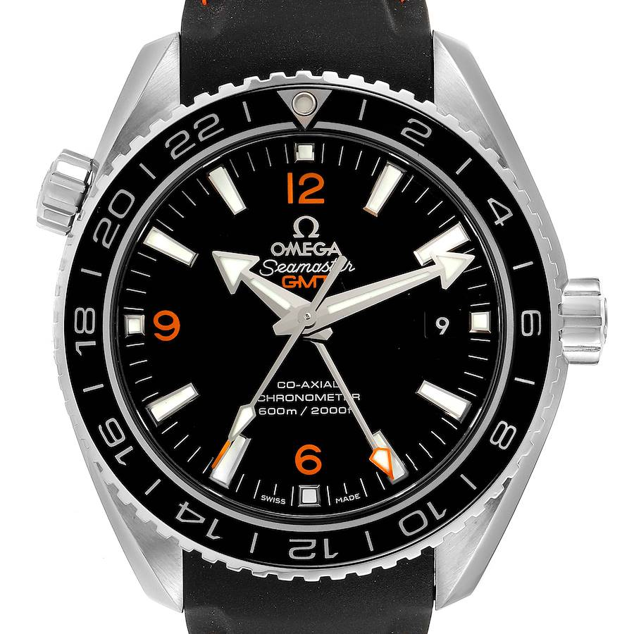Omega Seamaster Planet Ocean GMT 600m Watch 232.32.44.22.01.002 Card SwissWatchExpo