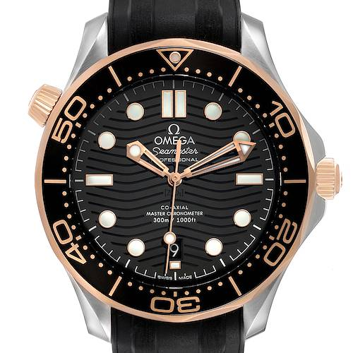 Photo of Omega Seamaster Steel Rose Gold Mens Watch 210.22.42.20.01.002 Box Card