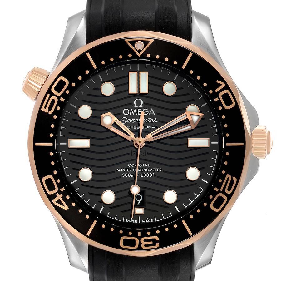 Omega Seamaster Steel Rose Gold Mens Watch 210.22.42.20.01.002 Box Card SwissWatchExpo
