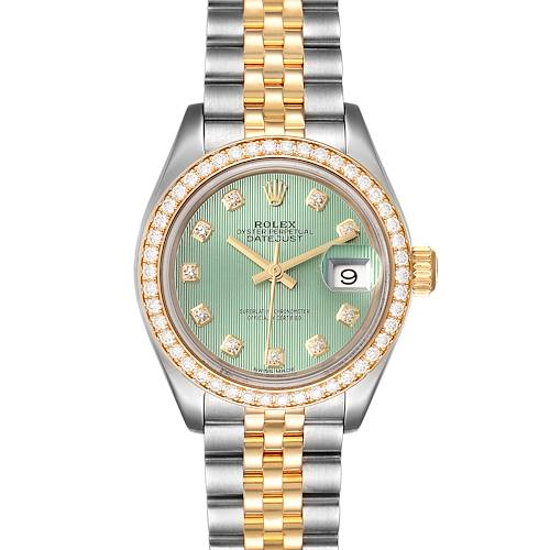Photo of Rolex Datejust 28 Steel Yellow Gold Diamond Ladies Watch 279383 Box Card