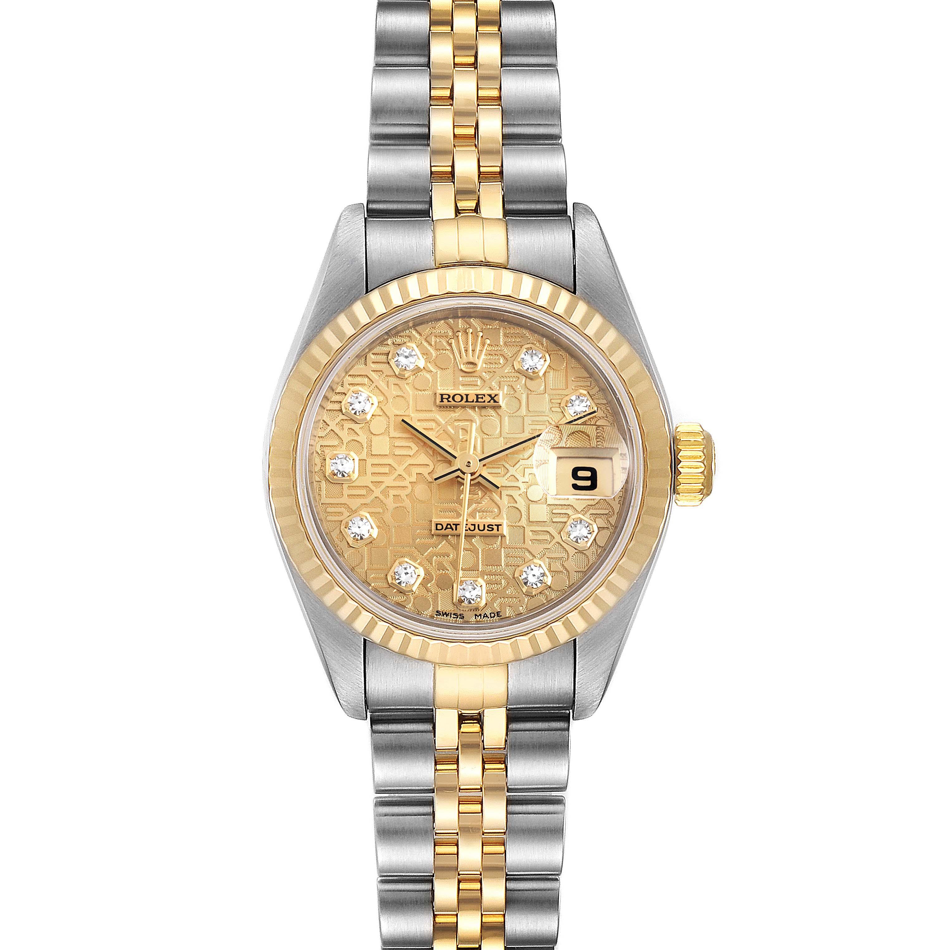 Photo of Rolex Datejust Steel Yellow Gold Jubilee Diamond Dial Ladies Watch 79173