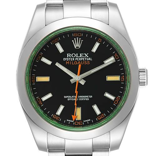 Photo of NOT FOR SALE Rolex Milgauss Black Dial Green Crystal Steel Mens Watch 116400V PARTIAL PAYMENT