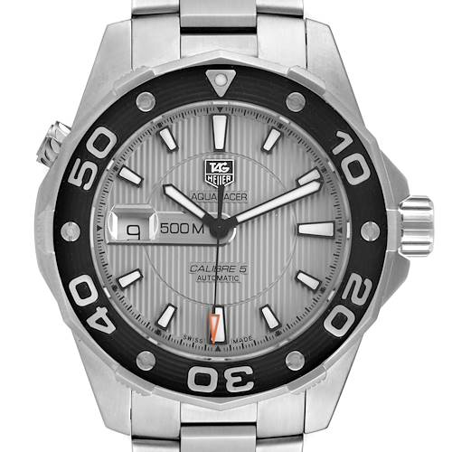Photo of Tag Heuer Aquaracer 2000 Stainless Steel Mens Watch WAJ2111 Box Card