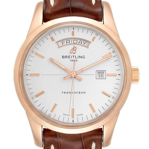Photo of Breitling Transocean Day Date Rose Gold Mens Watch R45310 Box Papers