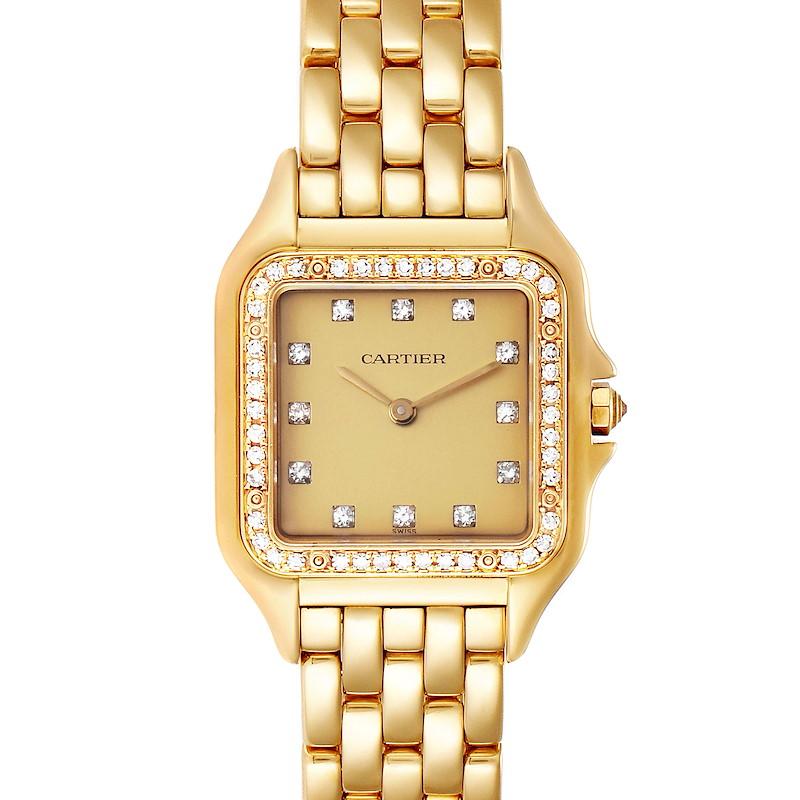 Cartier Panthere 18k Yellow Gold Diamond Unisex Watch 883969 SwissWatchExpo