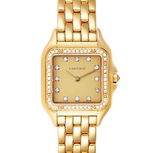 Cartier Panthere 18k Yellow Gold Diamond Unisex Watch 883969