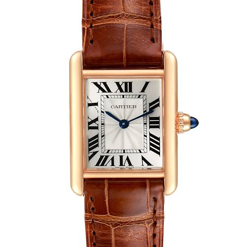 Photo of Cartier Tank Louis 18k Rose Gold Mechanical Ladies Watch WGTA0010 Box Papers