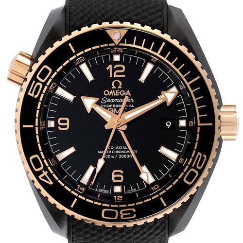 Photo of Omega Planet Ocean Deep Black Ceramic GMT Watch 215.63.46.22.01.001 Box Card