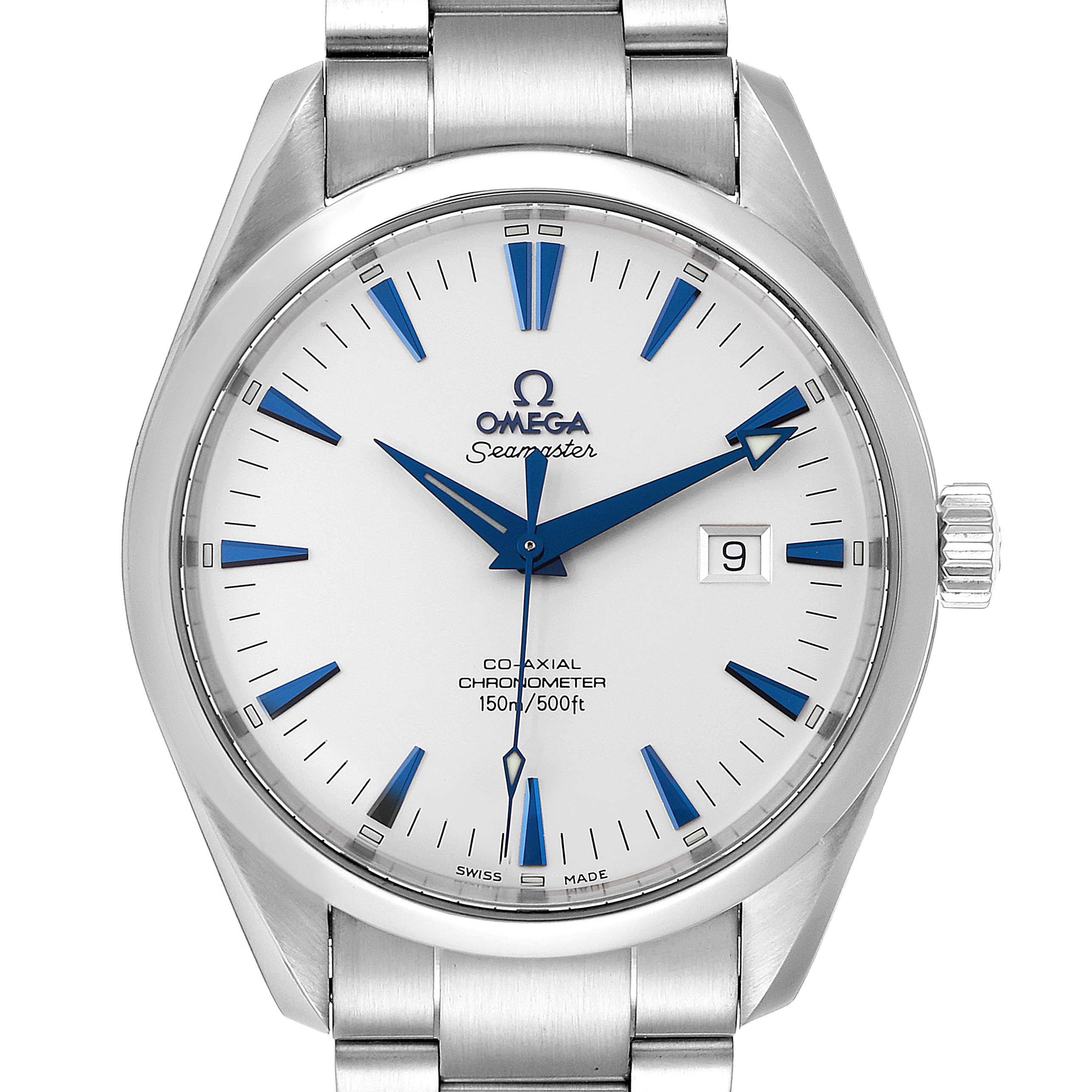 Omega Seamaster Aqua Terra Big Size Steel Mens Watch 2502.33.00 SwissWatchExpo