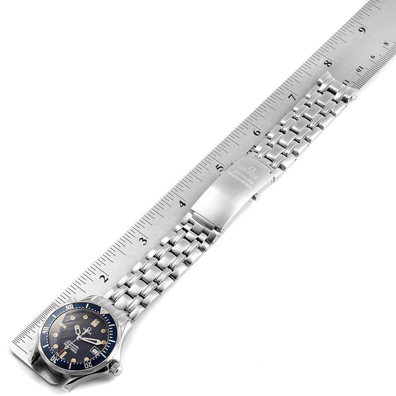 Omega Seamaster Bond 36 Midsize Blue Dial Watch 2561.80.00 SwissWatchExpo