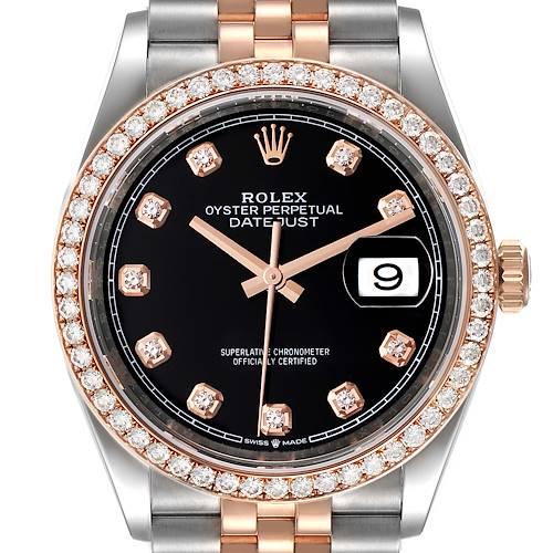 Photo of Rolex Datejust 36 Steel Rose Gold Diamond Unisex Watch 126281 Unworn
