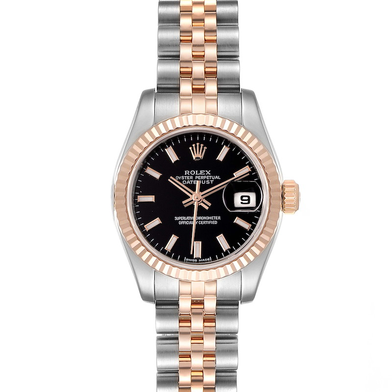 Rolex Datejust Steel Everose Gold Ladies Watch 179171 Box Card SwissWatchExpo