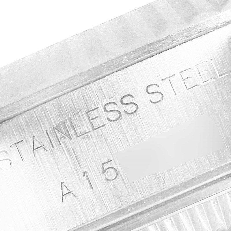 Rolex Datejust Steel White Gold Silver Diamond Dial Ladies Watch 69174 SwissWatchExpo