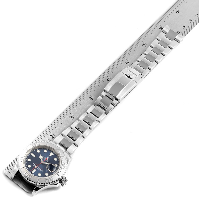 Rolex Yachtmaster 40mm Steel Platinum Blue Dial Mens Watch 116622 Box Papers SwissWatchExpo