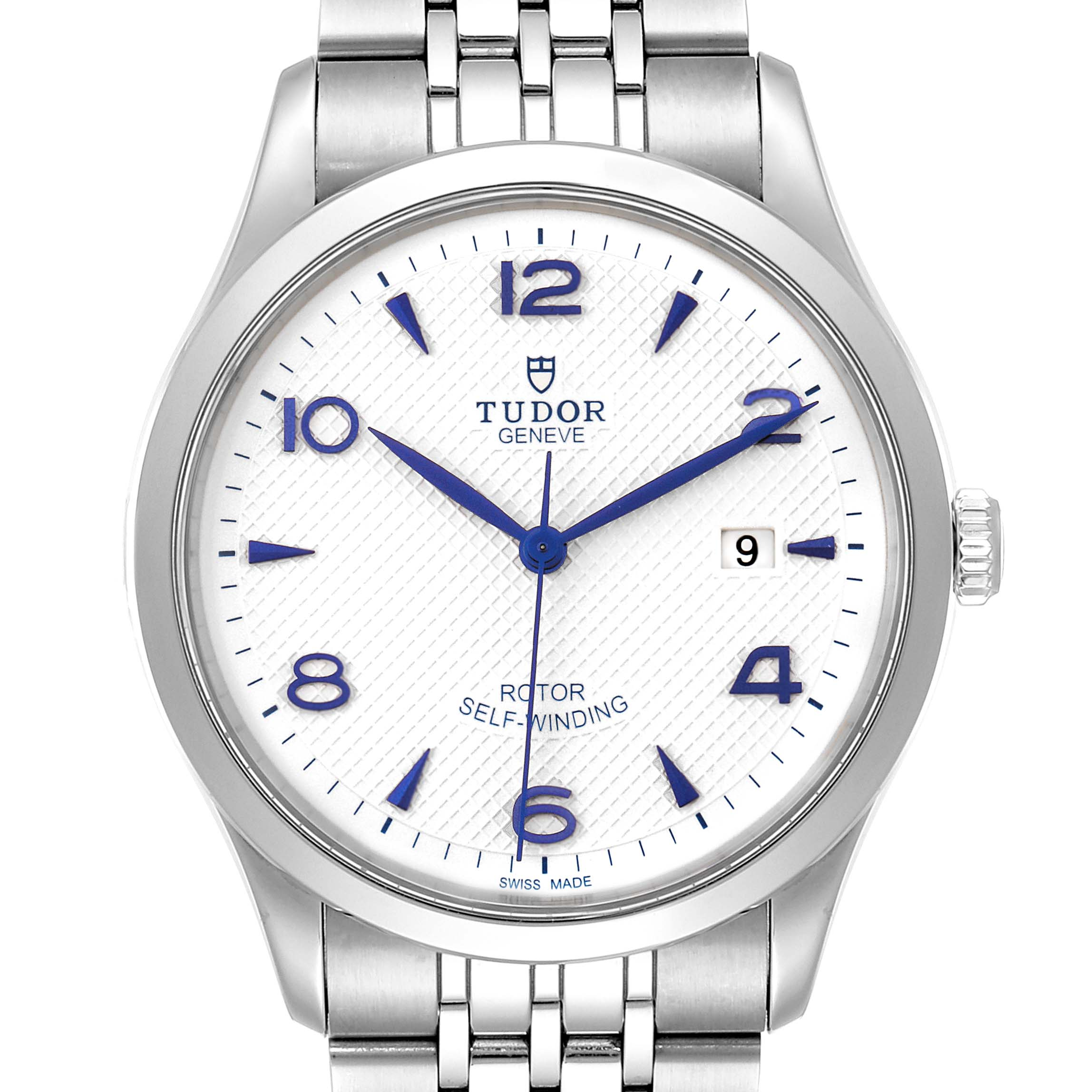 Tudor 1926 Opaline Dial Automatic 41mm Steel Mens Watch 91650 Box Card SwissWatchExpo