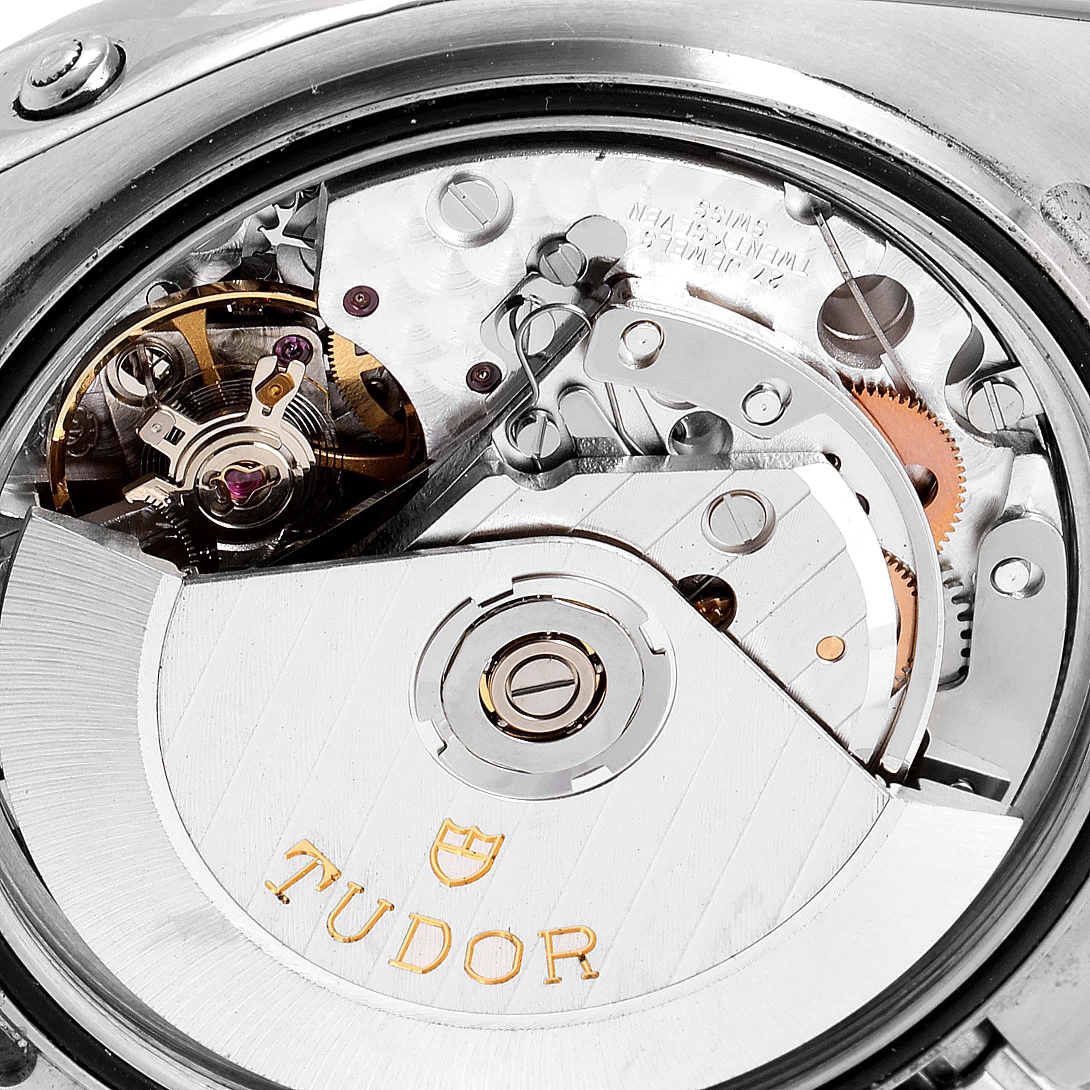 Tudor Grantour Black Dial Chronograph Steel Mens Watch 20350N Card SwissWatchExpo