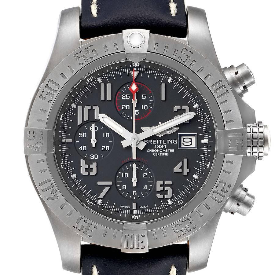 Breitling Avenger Bandit Grey Dial Blue Stap Titanium Watch E13383 Box Papers SwissWatchExpo