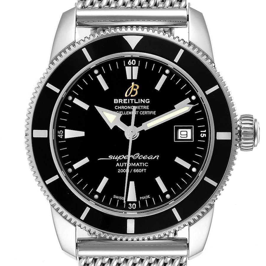 Breitling Superocean Heritage 42 Mesh Bracelet Mens Watch A17321 SwissWatchExpo