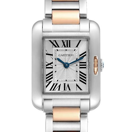 Photo of Cartier Tank Anglaise Small Steel Rose Gold Ladies Watch W5310019