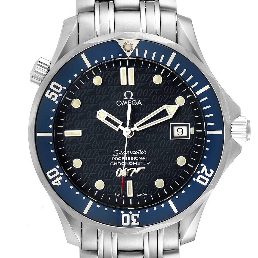 Omega Seamaster 40 Years James Bond Blue Dial Watch 2537.80.00 Unworn SwissWatchExpo