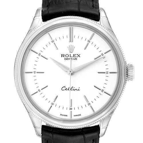 Photo of Rolex Cellini Time White Gold Automatic Mens Watch 50509 Unworn
