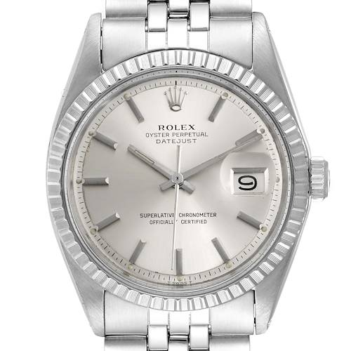 Photo of Rolex Datejust Silver Dial Jubilee Bracelet Vintage Mens Watch 1603