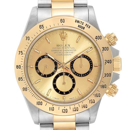 Photo of Rolex Daytona Steel Yellow Gold Inverted 6 Chronograph Mens Watch 16523