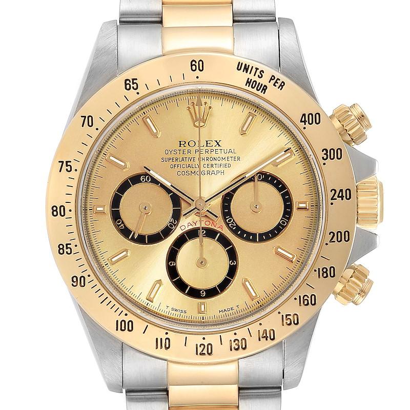 Rolex Daytona Steel Yellow Gold Inverted 6 Chronograph Mens Watch 16523 SwissWatchExpo