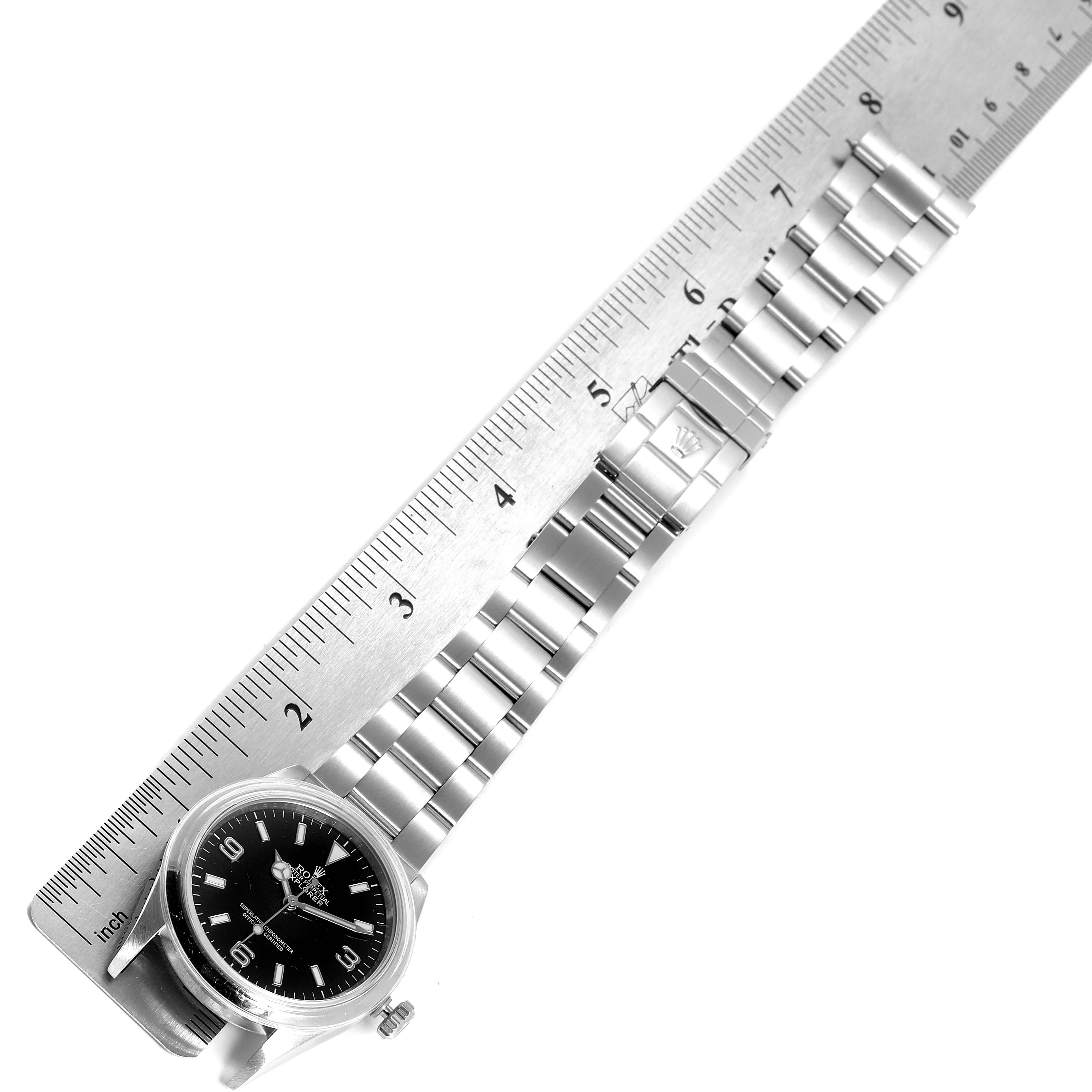 Rolex Explorer I Black Dial Stainless Steel Mens Watch 114270 Box Card SwissWatchExpo
