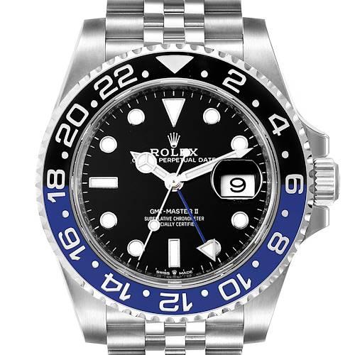 Photo of Rolex GMT Master II Black Blue Batman Jubilee Steel Watch 126710 Unworn