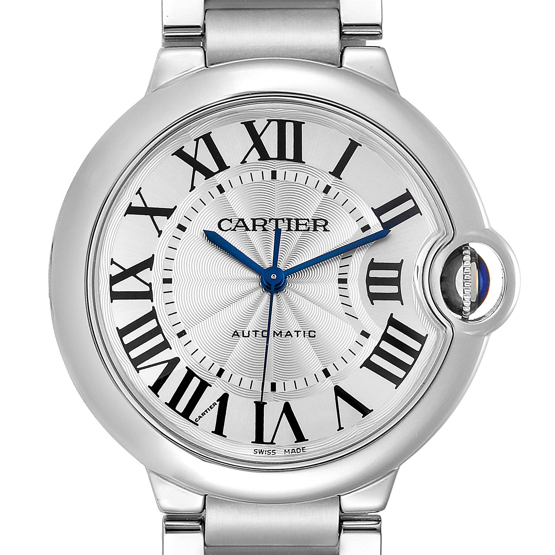 Cartier Ballon Bleu Midsize 36 Steel Ladies Watch W6920046 Box Papers