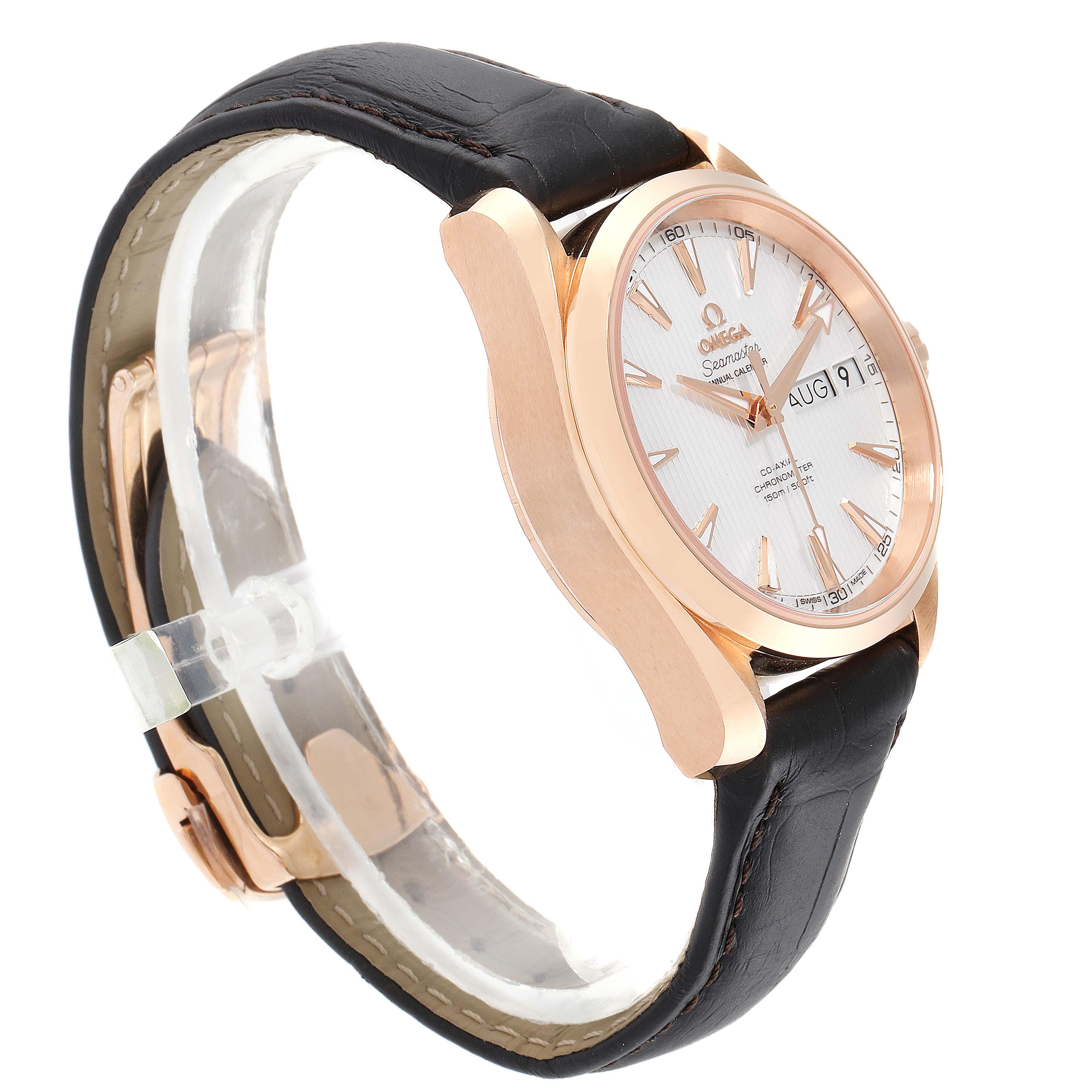 Omega Aqua Terra Annual Calendar Rose Gold Watch 231.53.39.22.02.001 Unworn SwissWatchExpo