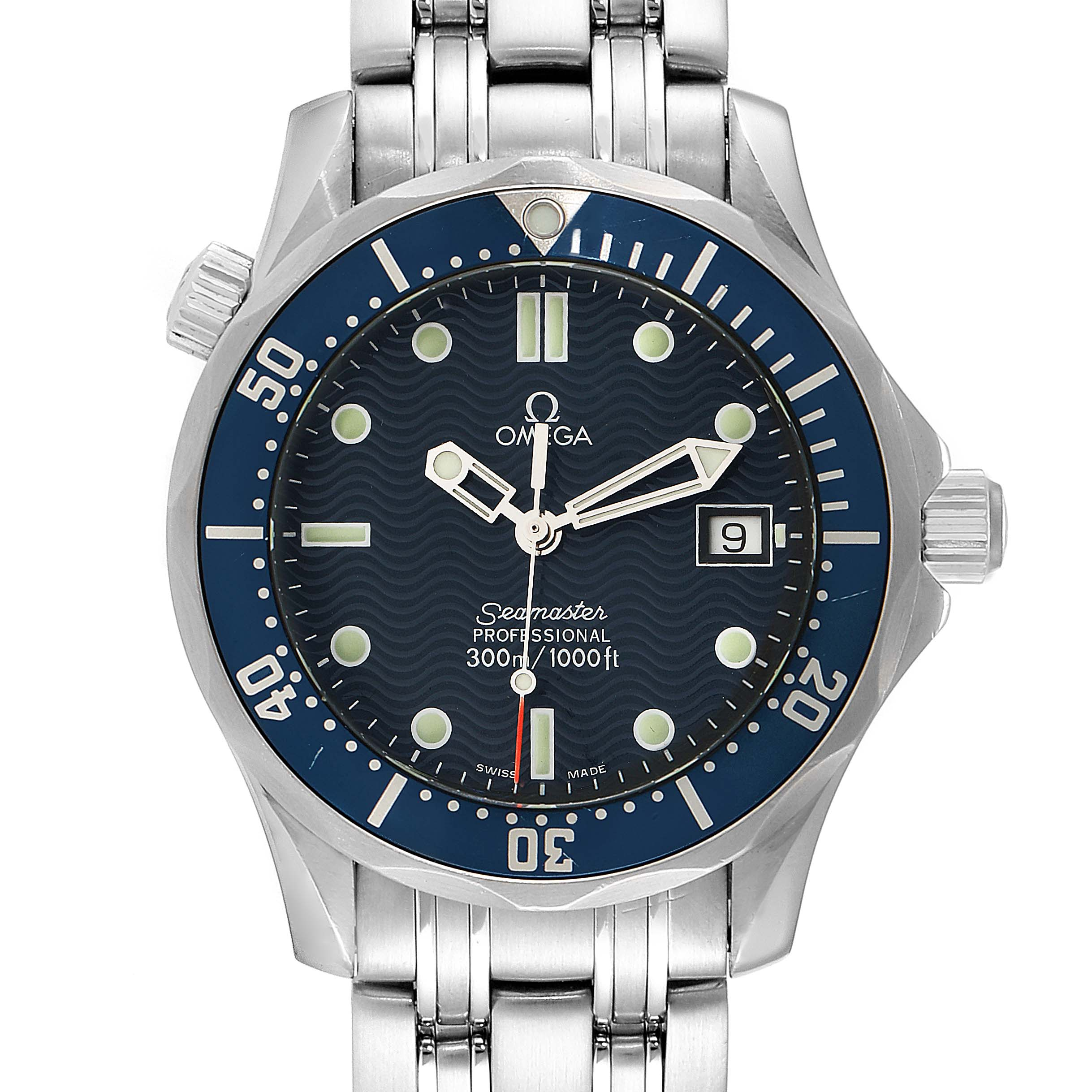 Photo of Omega Seamaster James Bond 36 Midsize Blue Wave Dial Watch 2561.80.00