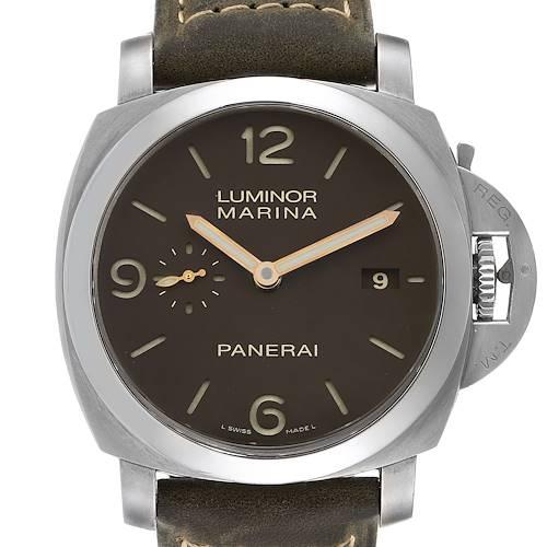 Photo of Panerai Luminor Marina 1950 3 Days Titanium 44mm Mens Watch PAM00351