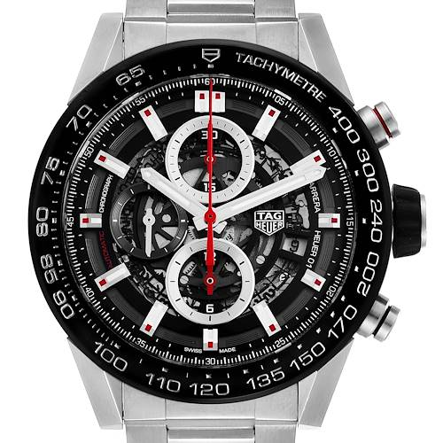 Photo of Tag Heuer Carrera Skeleton Dial Chronograph Mens Watch CAR2A1W Box